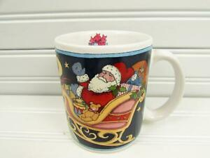 5455-by-Certified-Int-Mug-Susan-Winget-Santa-Sleigh-Reindeer-Presents-b115