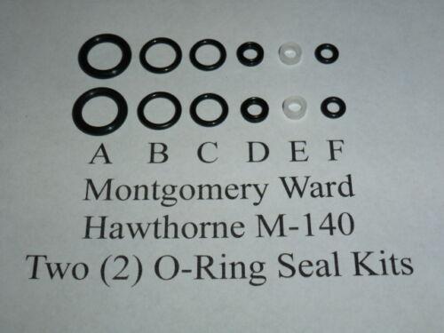 O-Ring  Seal Kits 2 Montgomery Ward Hawthorne M-140 Air Rifle Two