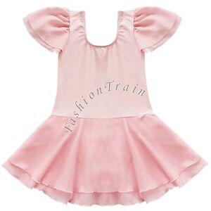Kid-Girls-Gymnastics-Ballet-Dance-Leotard-Skating-Dress-Tutu-Skirt-Sport-Costume