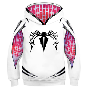 6343e302 US! Spider-Man: Into the Spider-Verse Children Gwen Venom Hoodie ...