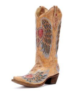 978096d0ff52 Image is loading Corral-Ladies-Cowboy-Western-Boots-Antique-Saddle-Blue-