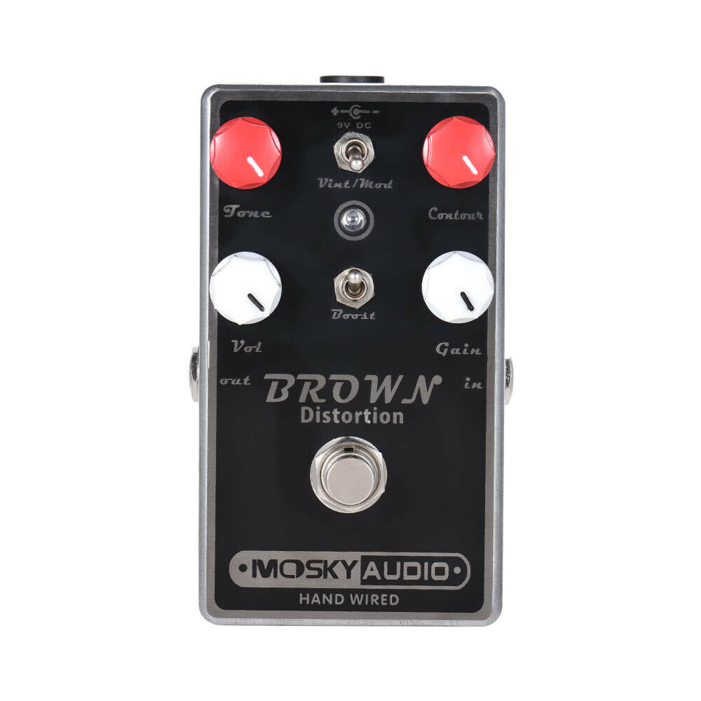Mosky Audio braun Dual Toggle Distortion Pedal for Electric Guitar Booster US