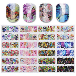 12-Patterns-Butterfly-Theme-Nail-Art-Water-Decals-Transfer-Stickers-Decor-Tips