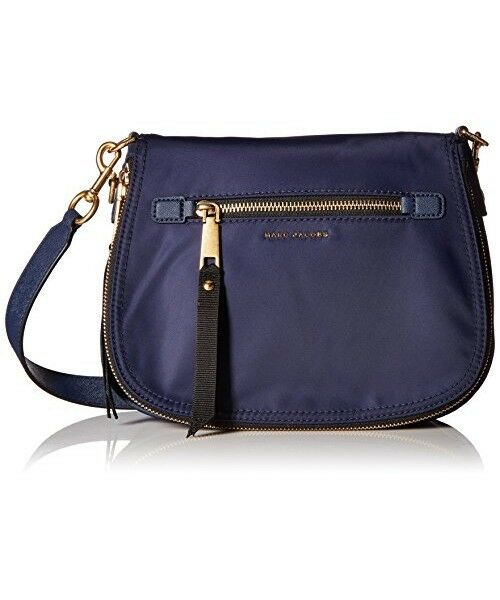 a2184855986f Marc Jacobs Womens Trooper Nomad Saddle Bag Midnight Blue gold
