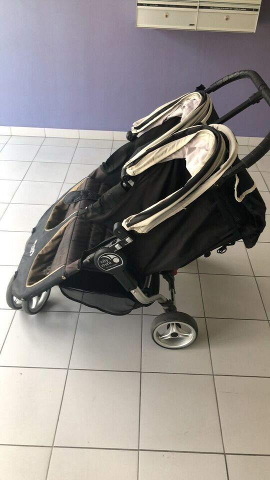 Kombivogn, tvillinge-, Baby Jogger City mini