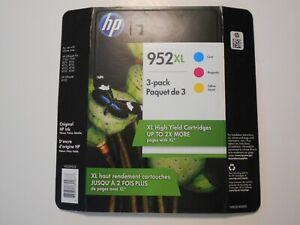 HP 952XL High Yield Original Ink Cartridges, Cyan/Magenta/Yellow,3 Pack EXP10/20