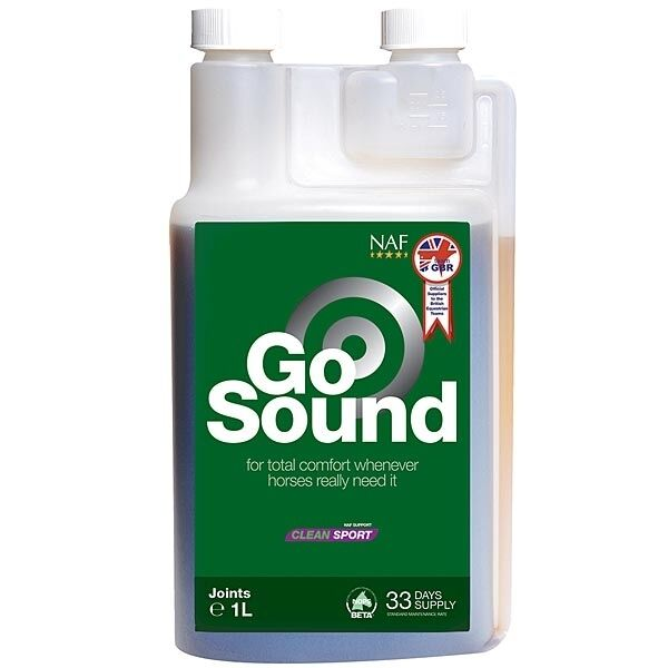 NAF GO SOUND 1 LITRE - SAFE FOR FEI  RULES - NATURAL RELIEF OLDER HORSES PONIES  sell like hot cakes