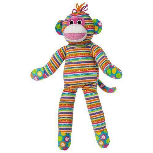 """Print Pizzazz 17/"""" Plush Sock Monkey Striped Body"""