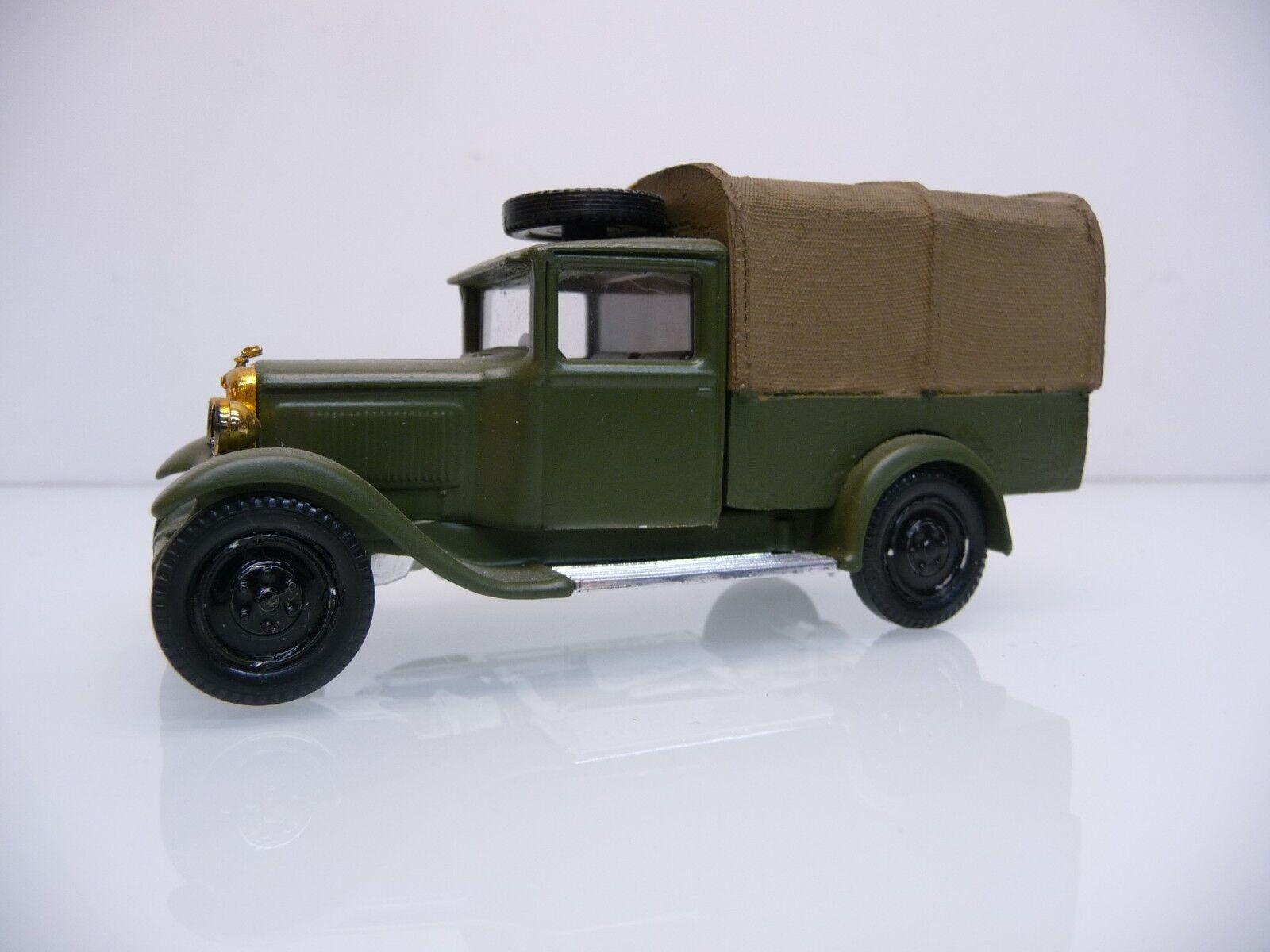 Solido 1 43 mano trabajo modelo citroen c4f 1930 con camastro verde oliva ejército