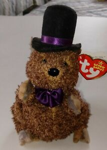 Ty Punxsutawney Phil Beanie Baby, 2006, Has Ear Tag, Excellent Condition