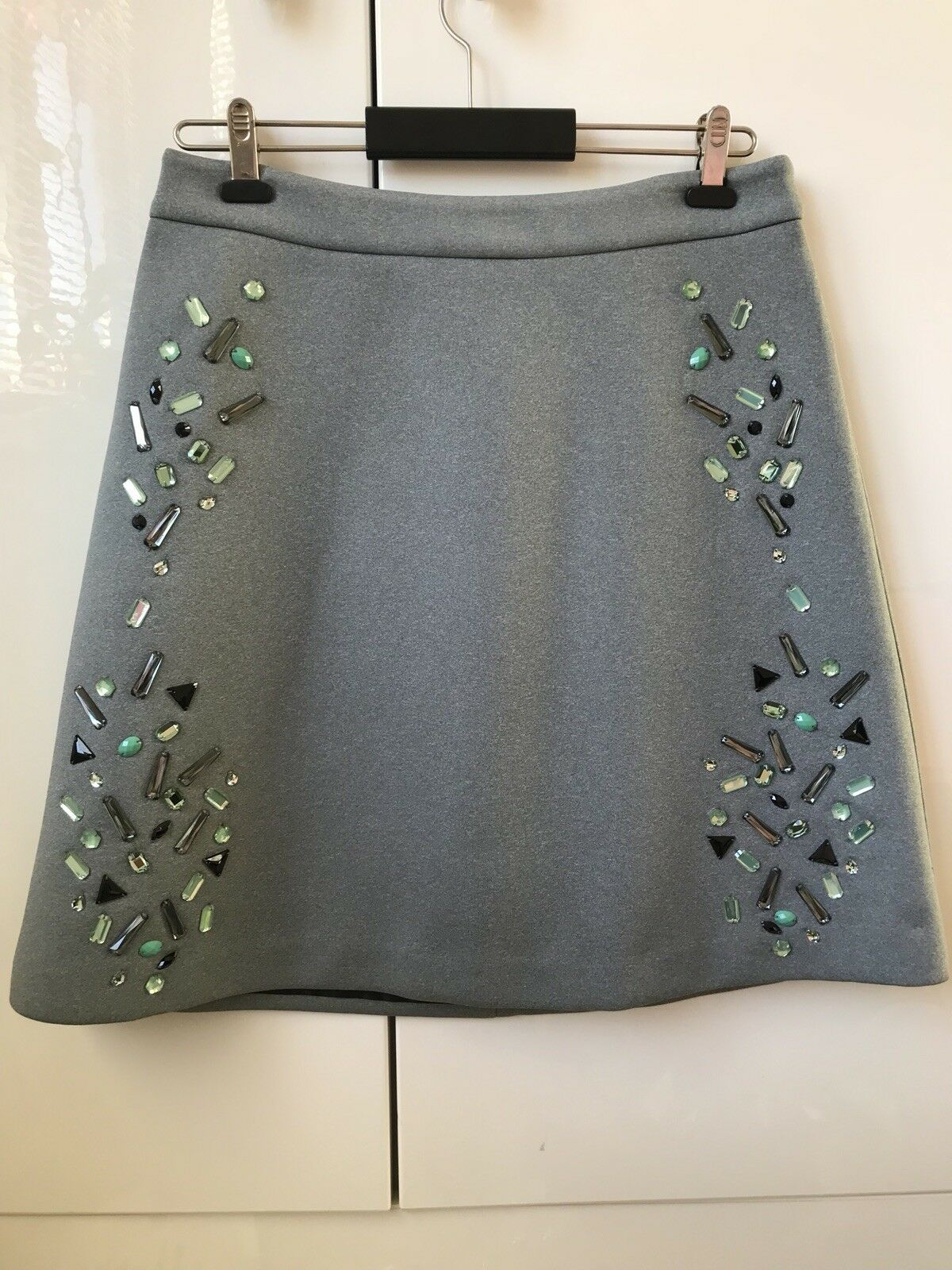 ASOS Ladies Grey Colour Skirt With Beading Size 10