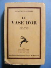 Ludwig Lewisohn Le Vase d'Or Editions Rieder 1933 Traduit par Maxime Piha
