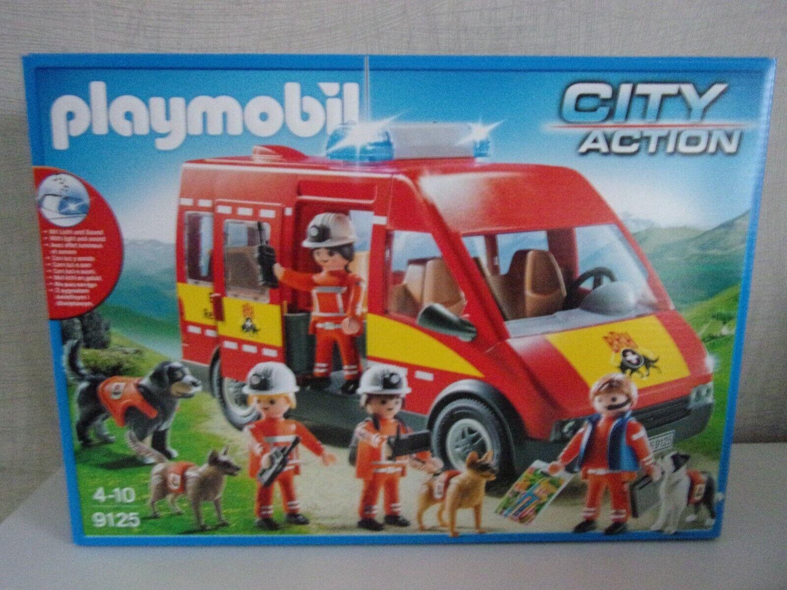 Jugarmobil City Acción 9125 Perro de Escuadrón de Rescate - Nuevo y Emb. Orig.