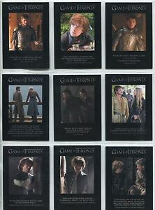 Game Of Thrones Season 4 Complete Quotable Chase Card Set Q31-39