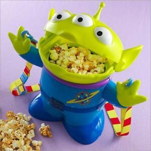 Disney Christmas Little Green Men Alien Santa Popcorn Bucket Container case FS