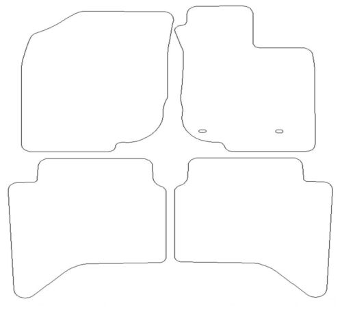 For Toyota Hi-Lux Double Cab 2011-2015 Fully Tailored 4 Piece Rubber Car Mat Set