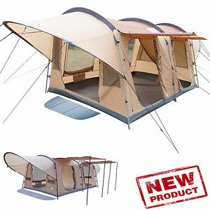 Image is loading Family-C&ing-Tent-8-Person-Woodlands-13-x-  sc 1 st  eBay & Family Camping Tent 8-Person Woodlands 13 x 10 2-Separate Rooms ...