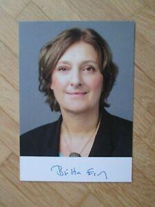 Schleswig-Holstein Ministerin Britta Ernst hands. Autogramm (Gattin Olaf Scholz)