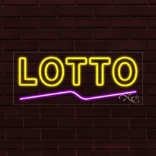 Brand New Lotto Withunderline 32x13x1 Inch Led Flex Indoor Sign 30089