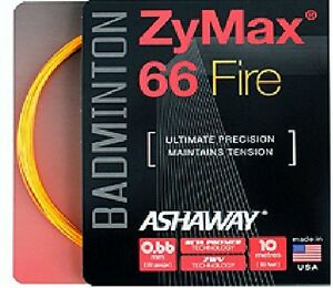 Ashaway Zymax 66 fire badminton string - 0.66mm orange (10m) 							 							</span>