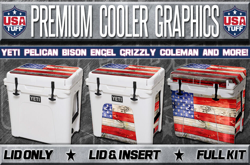 USATuff Danforth Cooler Decal Wrap fits YETI Tundra 110qt L+I Danforth USATuff ROTfish BW 1be778
