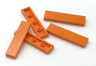 Lego 5 New Dark Tan Tiles 2 x 4 Flat Smooth Pieces