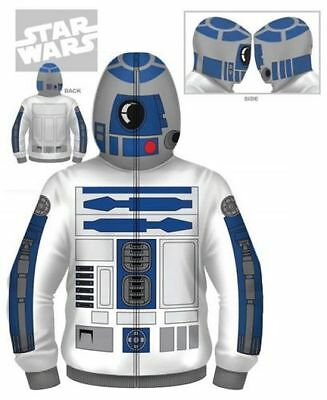 NWT Star Wars R2 D2 Robot Zipper Hoodie Halloween Costume SALE!!!!!