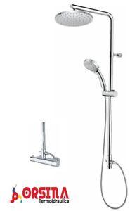 Colonna doccia telescopica dev. soffione d. 200 docc miscelatore termostatico