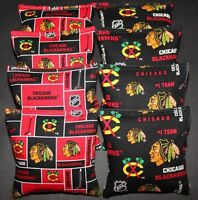 All Weather Made W Chicago Blackhawks Fabric 8 Aca Reg Cornhole Bean Bags