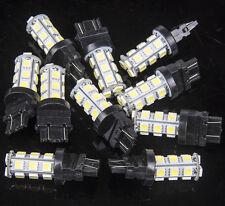 10Pcs 3157 White 18SMD 5050 Reverse Back Up/Tail/Brake/Stop/Turn LED Light Bulbs