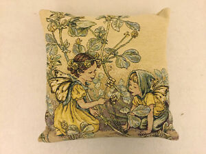 CICELY MARY BARKER - Tapestry Fairy Cushion 'Black Medick Fairy'