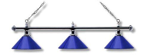 Billardlampe Billar Lámpara Luz Londres Cromo Azul