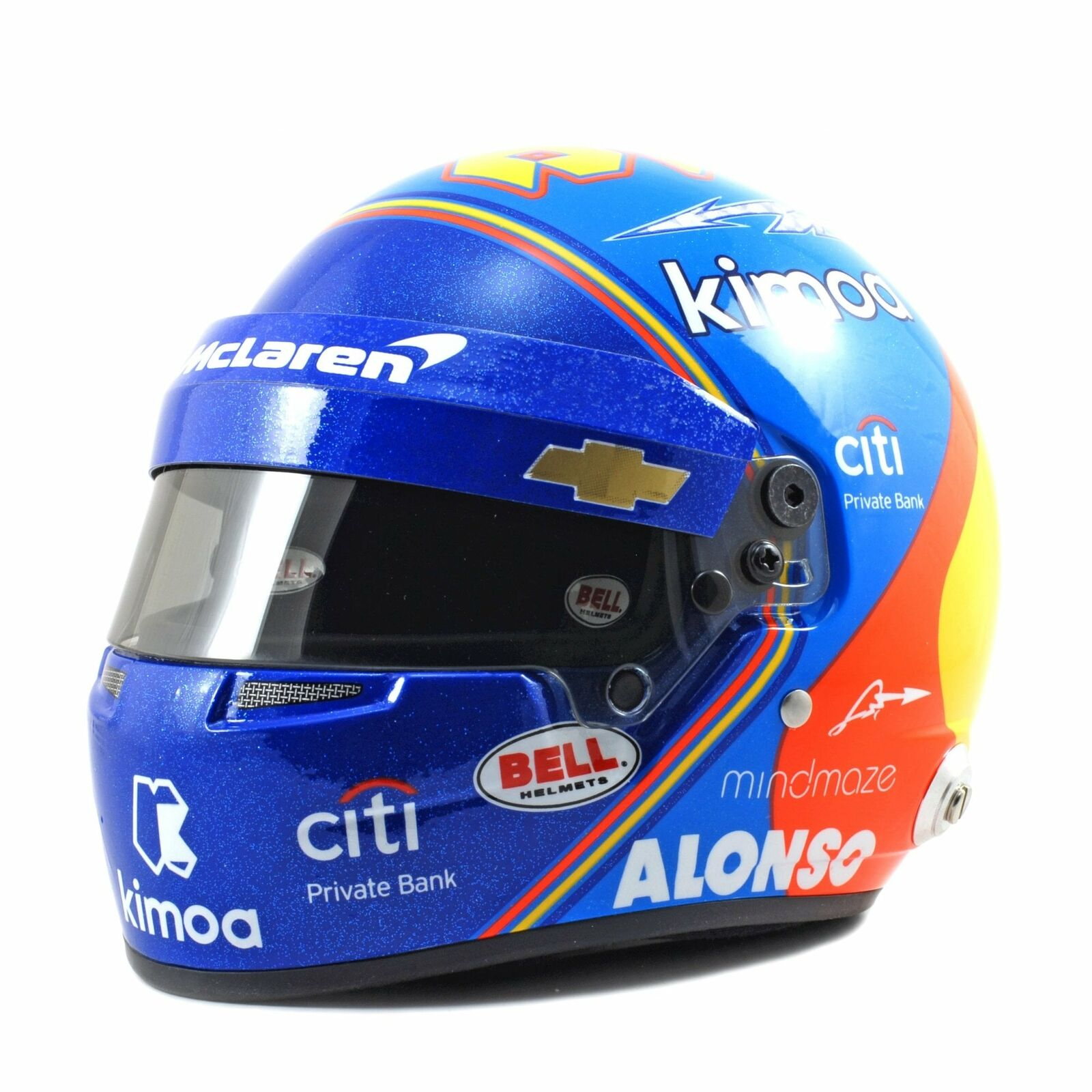 Bell Racing McLAREN 1 2 Mini F1 Casque Fernando Alonso Indy 2019