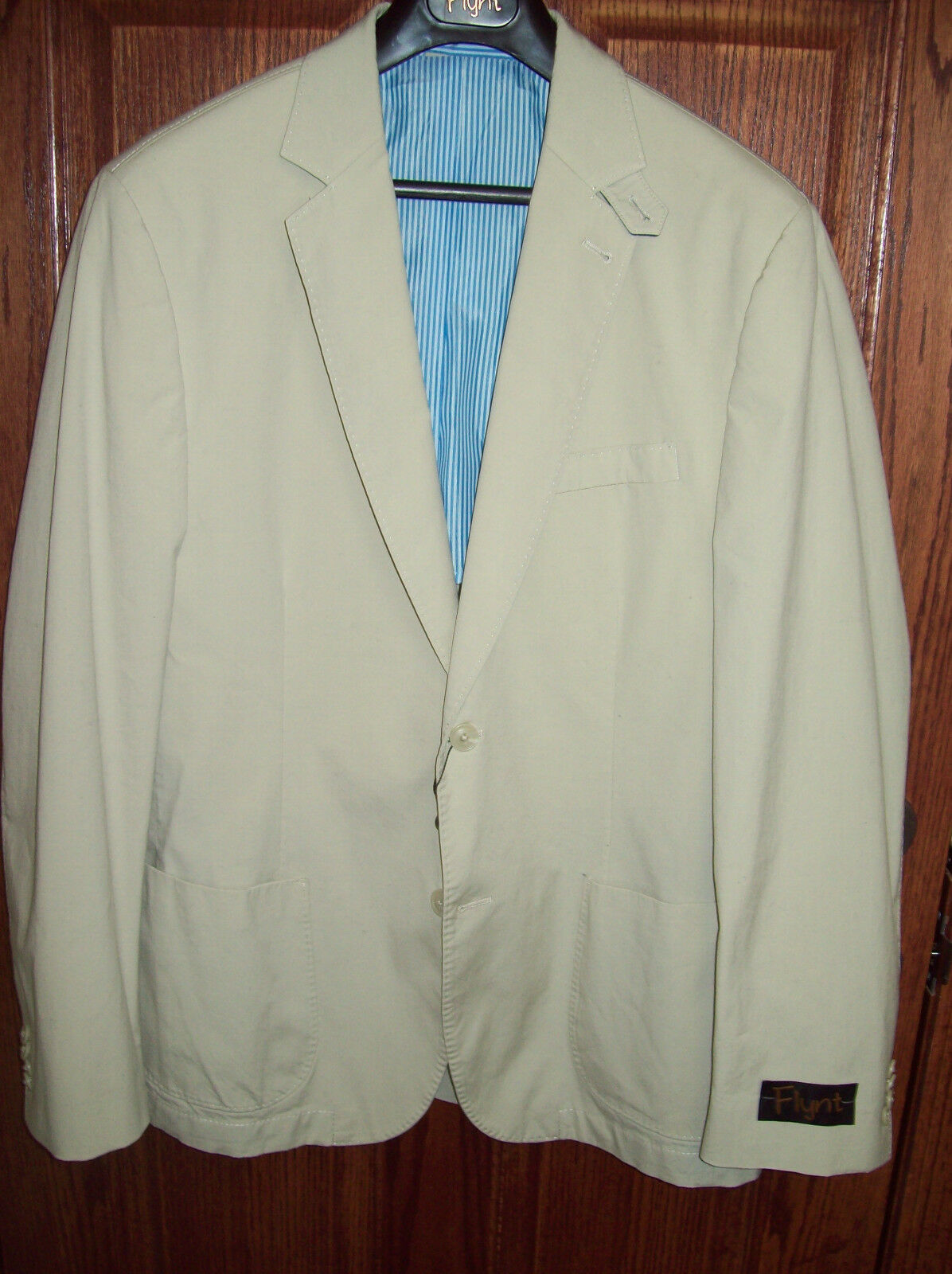 Flynt 2 Button Bueller Stretch Cotton Sport Coat NWT 40 R 295 Stone