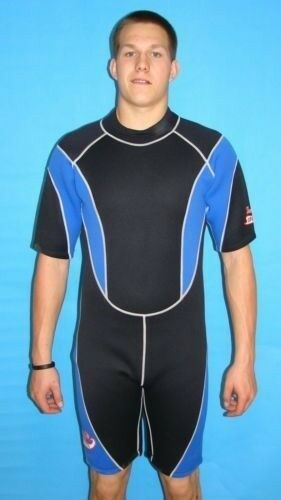 Wetsuit 3MM Shortie Style size Small to XL Plus Size Stretch Series Scuba 9804XS