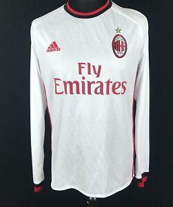 AC Milan 2017/2018 Away Adidas Football Shirt Men's Size M Soccer ...