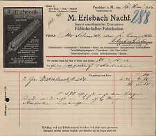 FRANKFURT a. M., Rechnung 1914, Füll-Federhalter-Fabrikation Erlebach Esterbrook