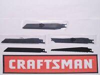 (8) Craftsman 6 Inch Sawzall Sawsall Blades (4) 6 Tpi Wood + (4) 24 Tpi Metal