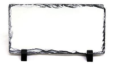 12.5x22CM RECTANGLE SUBLIMATION ROCK SLATE PRINTABLE WHITE PHOTO HEAT PRESS SH15