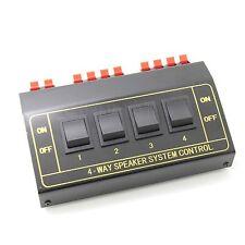 4Zone Speaker Selector Switch box Switcher Splitter 200Watt 4way black