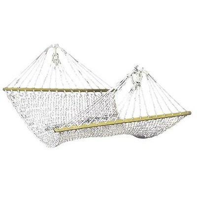 Double Hammock Strong Cotton Rope Swinging Outdoor Camping Backyard Patio Chair