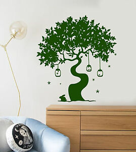 900cb282c3 Vinyl Wall Decal Magic Tree Fairy Tale Rabbit Art Children's Room ...