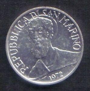 SAN MARINO - 1972 - 1 lira - KM 14 - UNC from divisionale - Italia - SAN MARINO - 1972 - 1 lira - KM 14 - UNC from divisionale - Italia