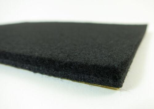 Felt Plate 210x300mm-Felt Glides 6mm Thick Felt Strong Self Adhesive-Black