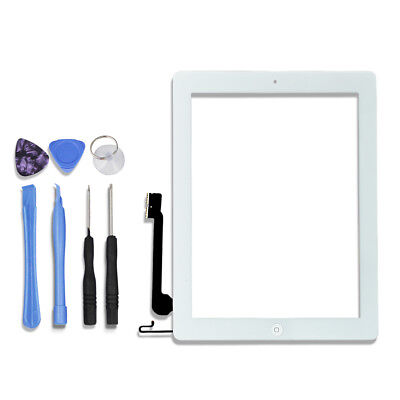 White Digitizer Touch Screen Replacement Assembly For ipad 4 A1458 A1459 A1460