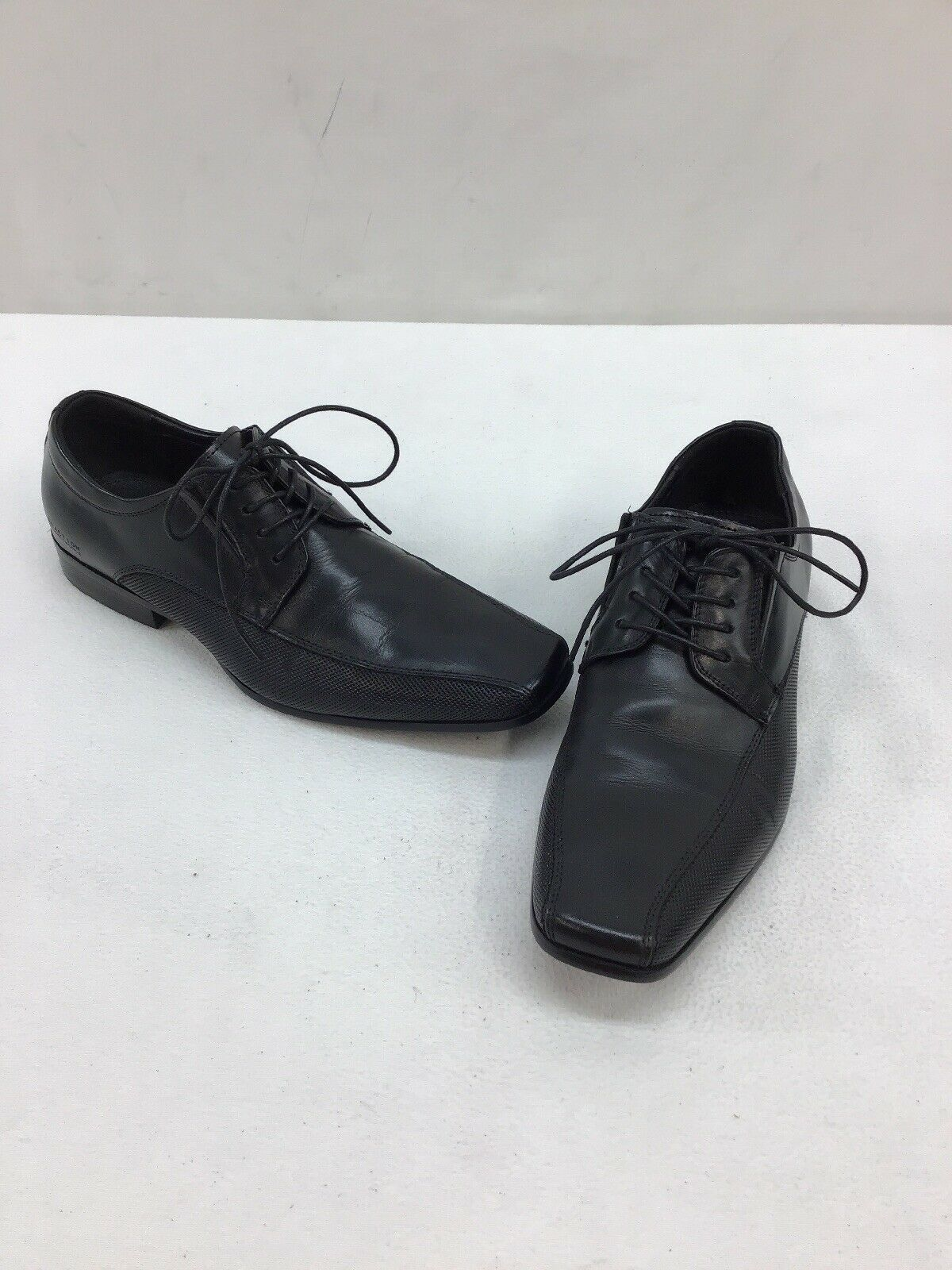 Kenneth Cole Reaction Men's Tential Black Leather Oxfords Size 7M M93 OOS/