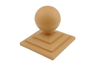 """Linic 2 x Grey Round Sphere Fence Top Finial 3/"""" Fence Post Cap UK Made GT0026"""
