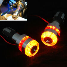 Motorcycle Handle Bar End 12V LED Turn Signal Light Lamp Amber&Red For Honda ND