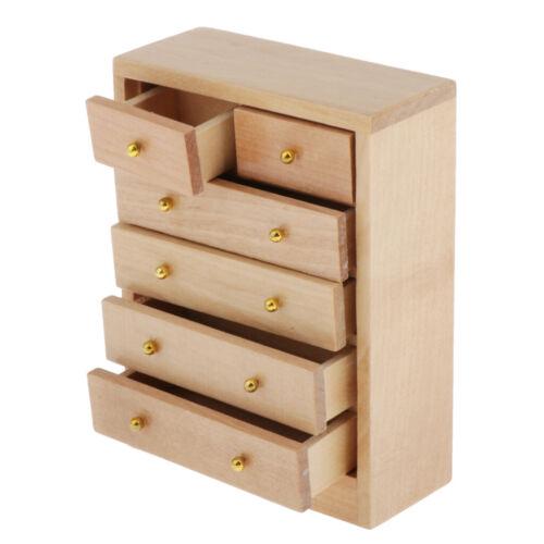 1//12 Puppenhaus Miniatur Möbel Wohnzimmer Schubladen Schrank Set
