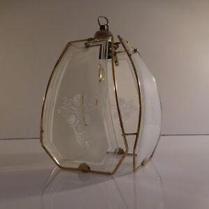 Eclairage-lustre-suspension-vintage-art-nouveau-deco-rococo-PN-France-N2341